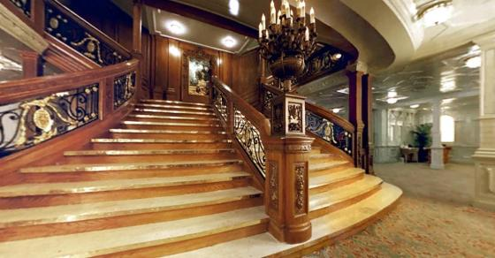 The Grand Staircase (D deck landing)